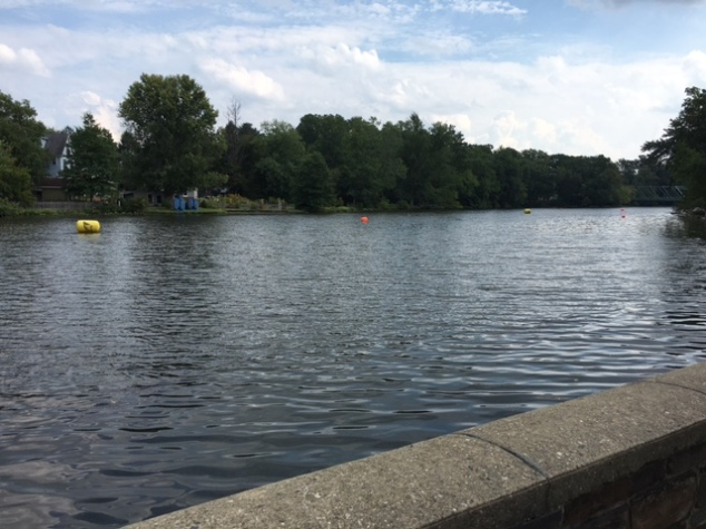 Peddie Lake - the location for the swim and the transition areas