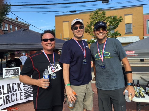 At the finish line with Bryan and Steve