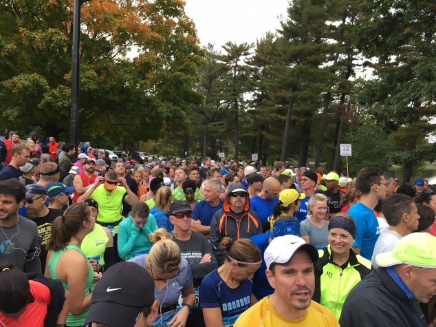 Just over 1,00 runners took part in the marathon