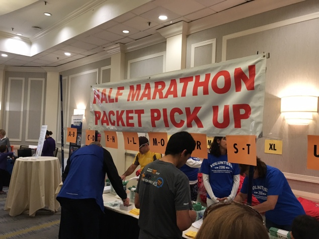 Half Marathon packet pick up
