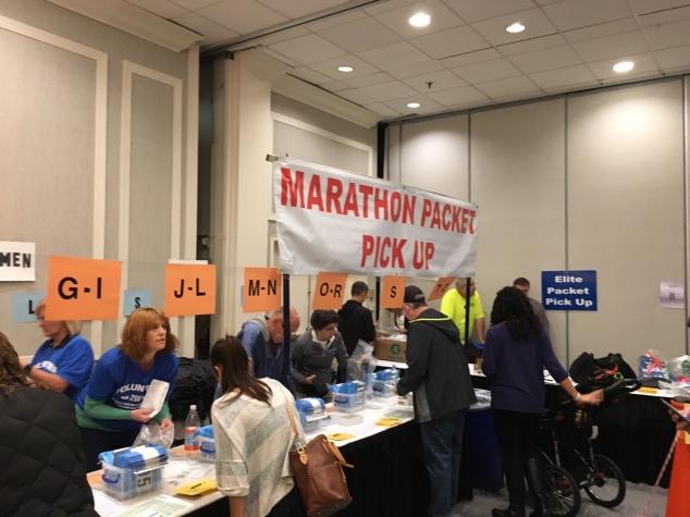 Marathon packet pickup