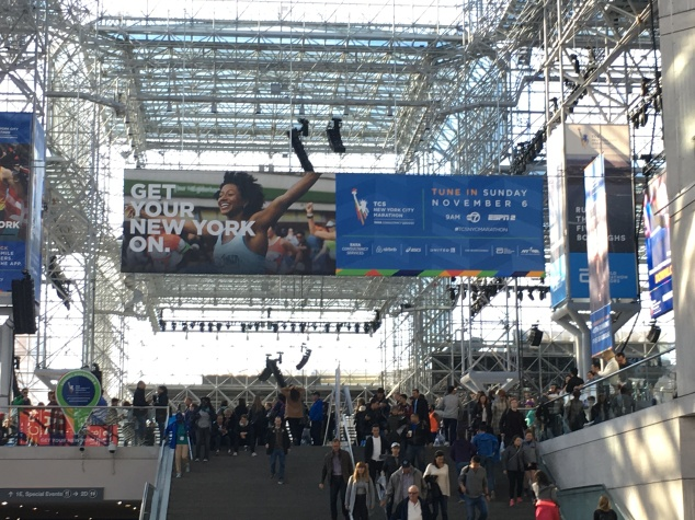 Arriving at the Javitz Center