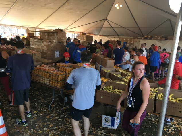 Plenty of food for runners