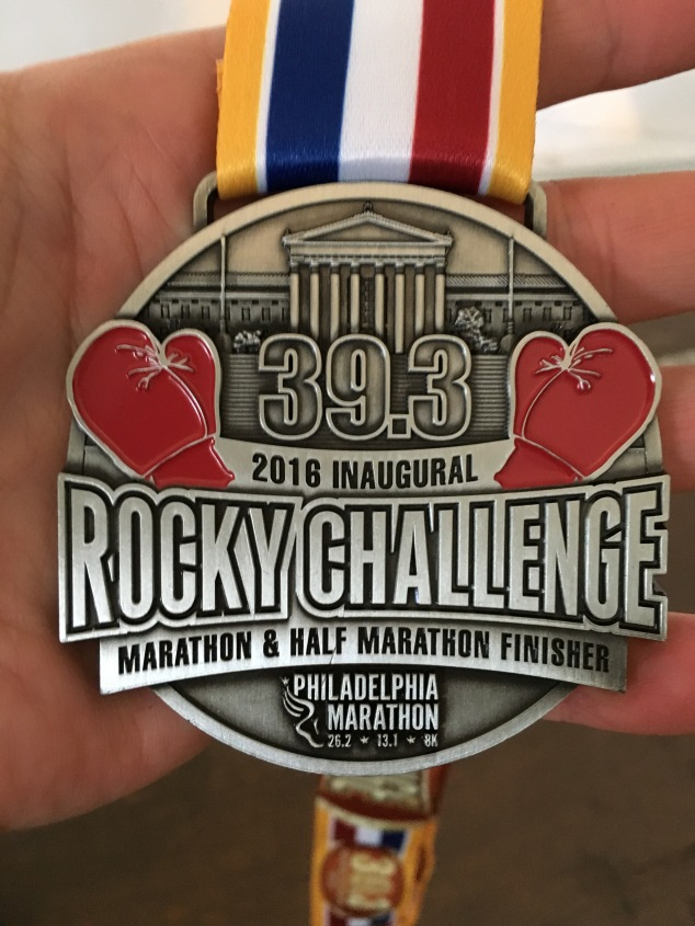 Here it is. The 'Rocky Challenge' medal
